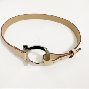 Salvatore Ferragamo loop belt vintage tan small